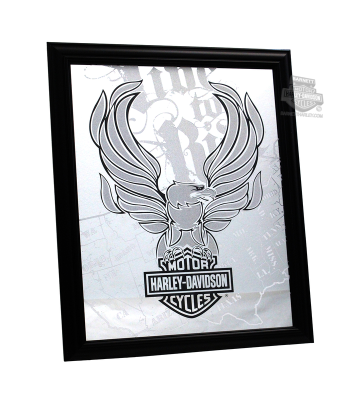 Harley-Davidson® H-D Live To Ride Eagle with B&S Mirror