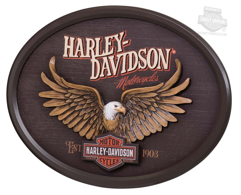 Harley-Davidson® Eagle with Trademark B&S Oval Pub Sign