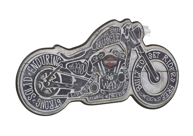 Harley-Davidson® Street Muscle Motorcycle Shaped Pub Sign
