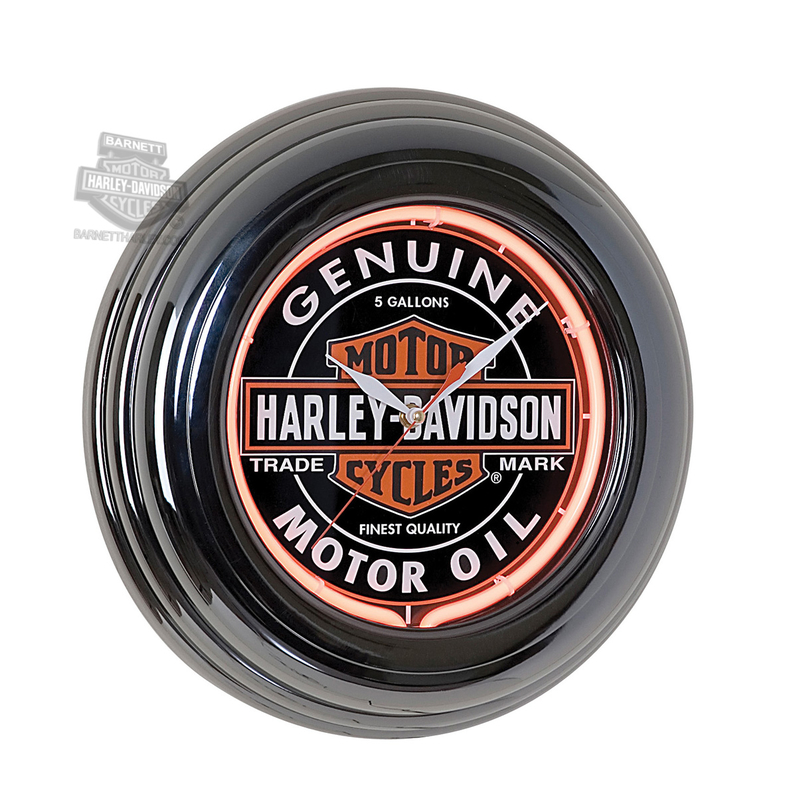 Harley-Davidson® H-D Oil Can Neon Clock