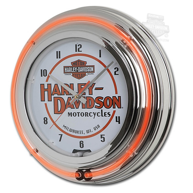 Harley-Davidson® Motorcycles Double Neon Clock