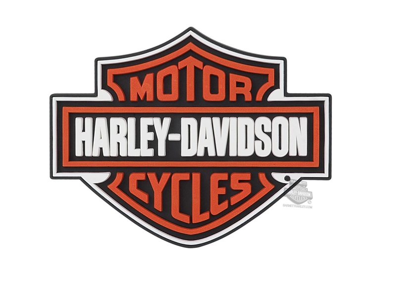 Harley-Davidson® B&S Rubber Coaster Set