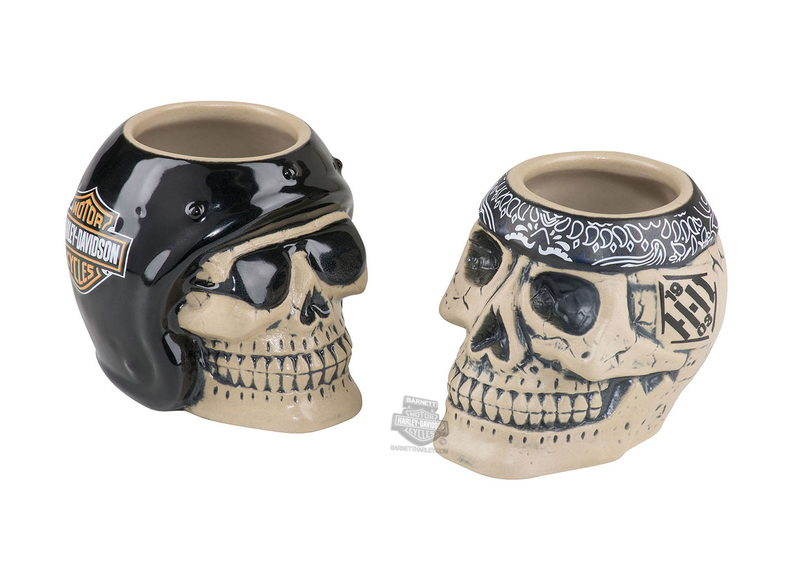 Harley-Davidson® H-D Skull Rider Ceramic 4 oz. Shot Glass Set
