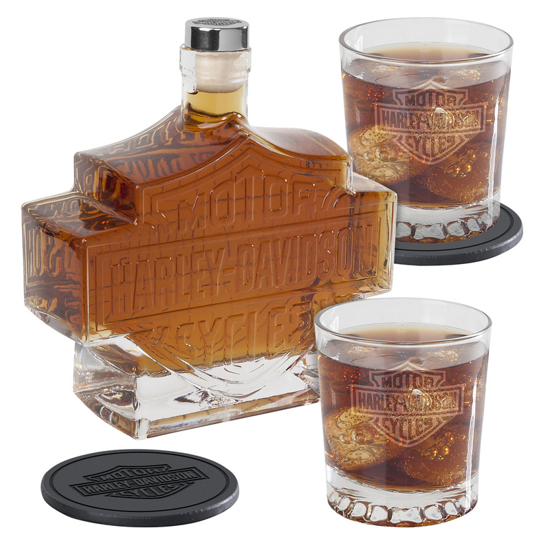 Harley-Davidson® Bar & Shield Decanter Set