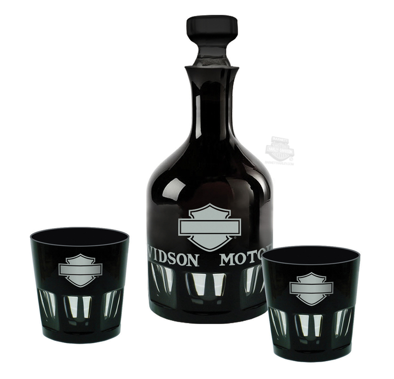 Harley-Davidson® H-D Silhouette B&S Decanter Set