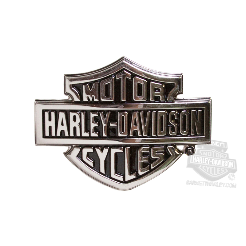 Harley-Davidson® Mens Chrome Bar & Shield Logo Silver Buckle by LODIS