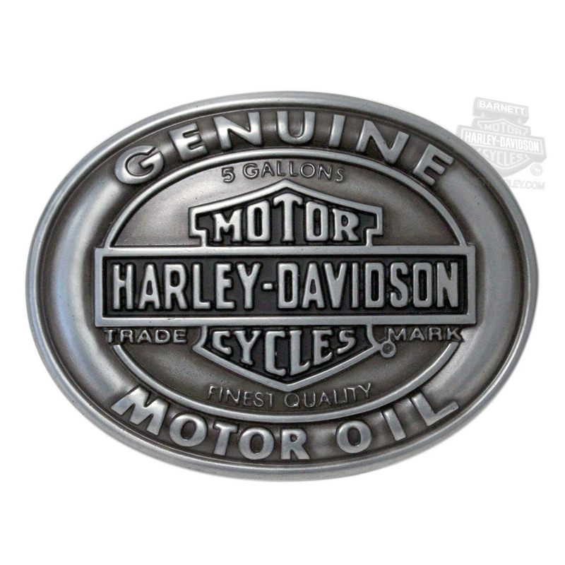 Harley-Davidson® Mens Genuine Motor Oil Trademark B&S Buckle by LODIS