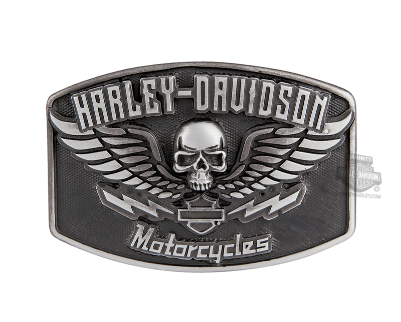 Harley-Davidson® Mens Guardian Winged Skull Buckle by LODIS