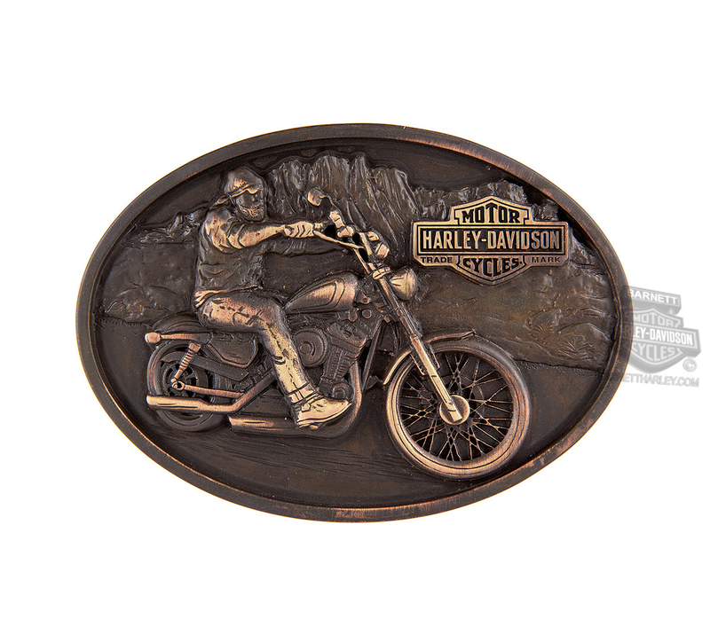 Harley-Davidson® Mens Born Bad Motorcycle with Trademark B&S Buckle by LODIS