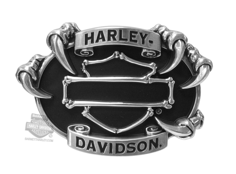 Harley-Davidson® Mens Claw Bones B&S with Banner Buckle by LODIS