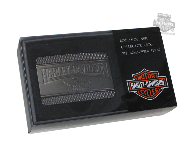 Harley-Davidson® Mens Bottoms Up H-D Name Gift Box Belt Buckle by American Accessories