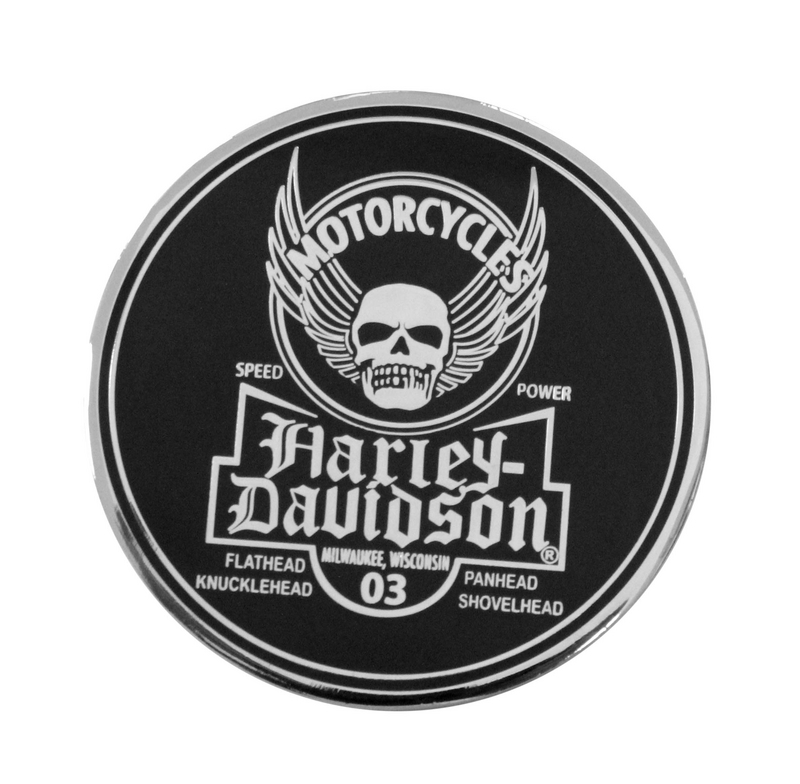 Harley-Davidson® Skull with Wings NH Distressed 1.75