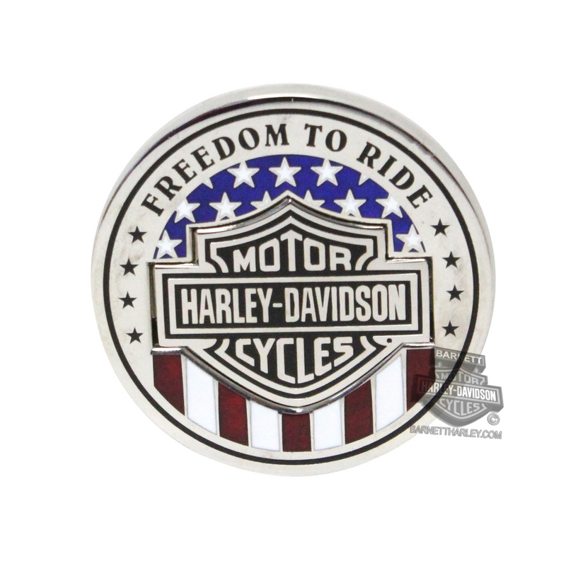 Harley-Davidson® Removable Legend with Red, White & Blue #1 Logo 1.75