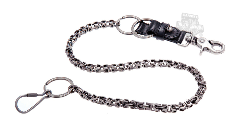 Harley-Davidson® Mens TNT Willie G Skull Medallion Wallet Chain by LODIS