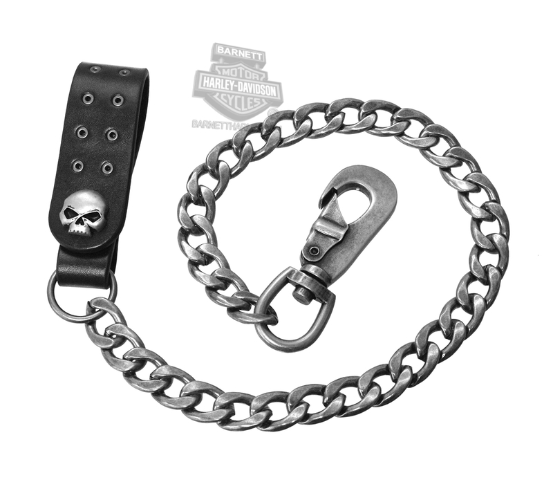 Harley-Davidson® Mens Skull Eyelet Willie G Wallet Chain by AMERICAN ACCESSORIES