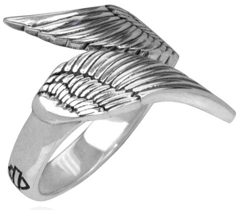 Harley-Davidson® .925 Silver Double Wing Womens Ring