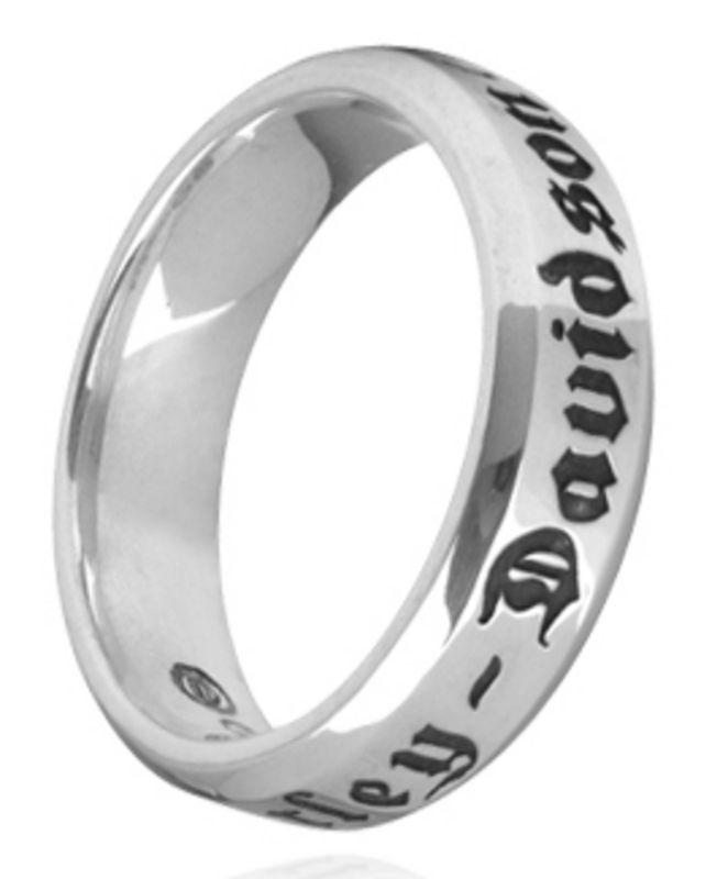 Harley-Davidson® .925 Silver Couple's Band Womens Ring