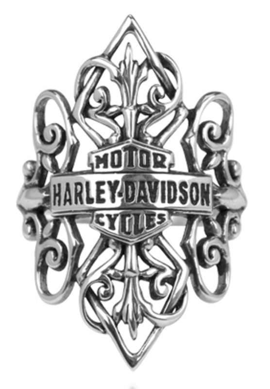 Harley-Davidson® .925 Silver Gypsy Filigree Womens Ring