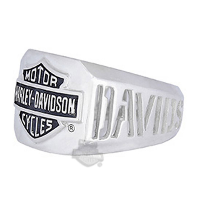 Harley-Davidson® Mens .925 Silver H-D Cutout B&S Ring by Mod Jewelry
