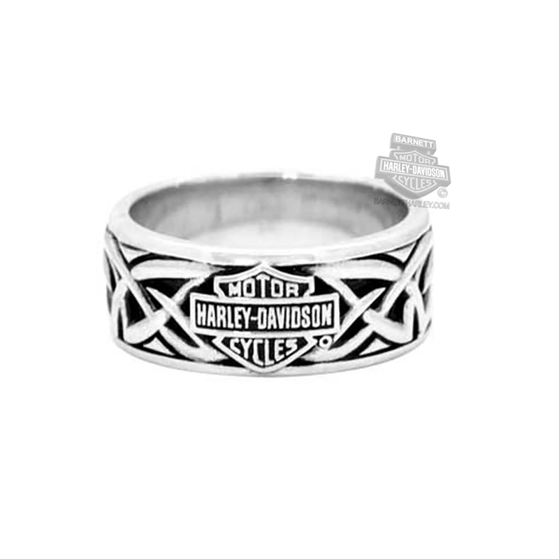 Harley Davidson Mens 925 Silver Celtic B S Band Ring By Mod Jewelry