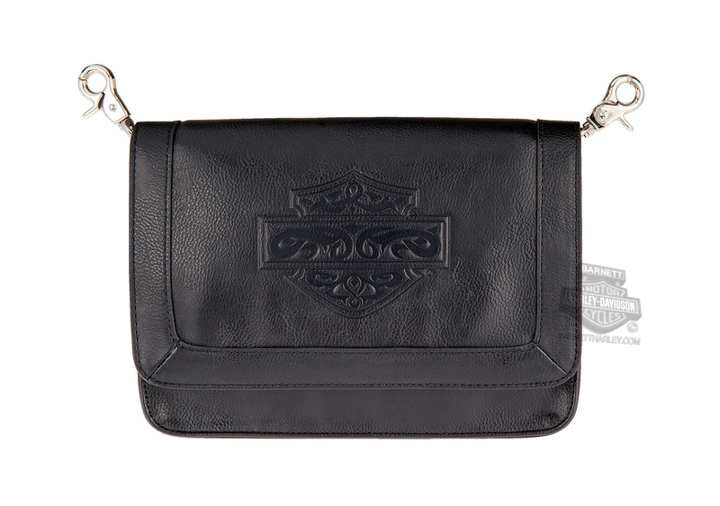 Harley-Davidson® Womens Celtic Bar & Shield Black Leather Hip Bag by LODIS