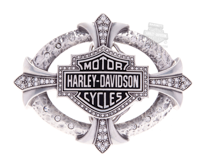 Harley-Davidson® Womens Relic Studded B&S with Rhinestones Buckle by LODIS *40th*