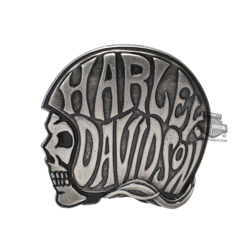Harley-Davidson® Womens Trip Out Skull with Helmet Buckle by LODIS