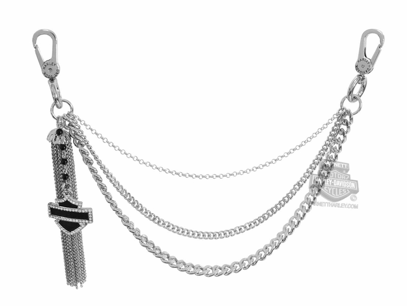 Harley-Davidson® Womens Off the Chain Tassel with B&S Charm Swag Hip Chain by AMERICAN ACCESSORIES *NJ19*