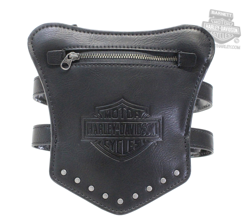 f7c30d7171 Harley-Davidson® Womens Garter B&S with Studs Black Leather Thigh Wallet by  American Accessories