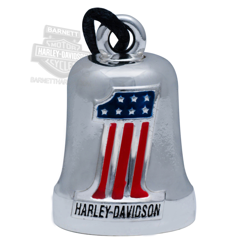 Harley-Davidson® .925 Silver Red, White & Blue #1 Logo Ride Bell by Mod Jewelry®