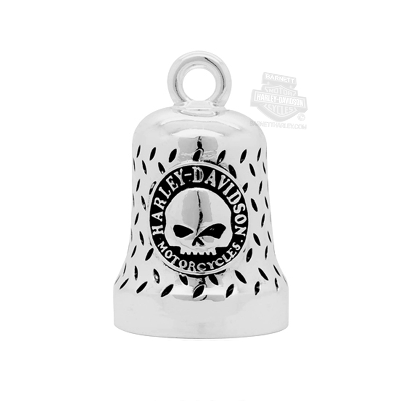 Harley-Davidson® Mens Willie G Skull with B&S Diamond Plate Ride Bell by Mod Jewelry®
