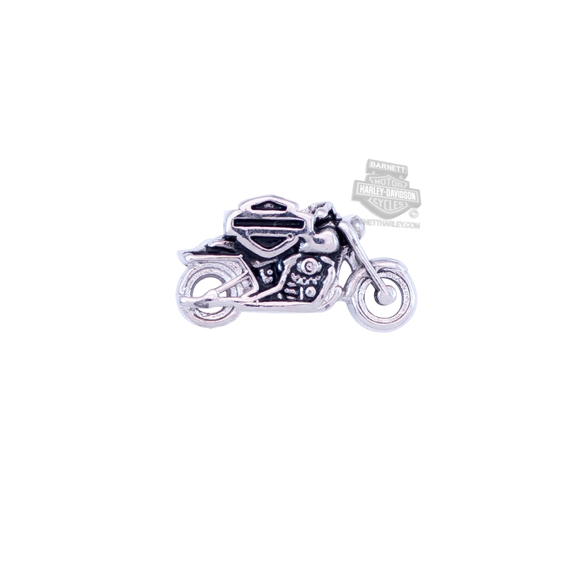 Harley-Davidson® Womens Stainless Steel Motorcycle with B&S Silver Locket Charm by Mod Jewelry®