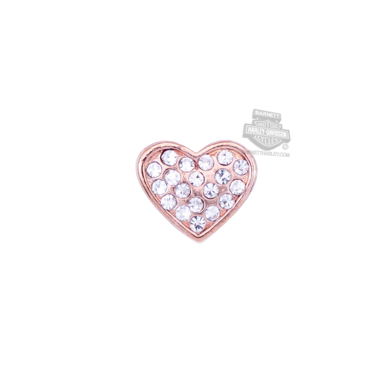 ** 2 for $10 ** Harley-Davidson® Womens Stainless Steel Bling Pink Color Puffy Heart Locket Charm by Mod Jewelry®