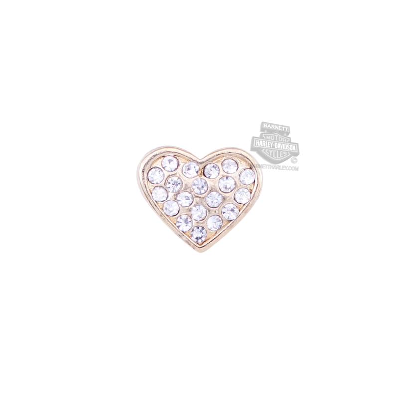 ** 2 for $10 ** Harley-Davidson® Womens Stainless Steel Bling Gold Color Puffy Heart Locket Charm by Mod Jewelry®