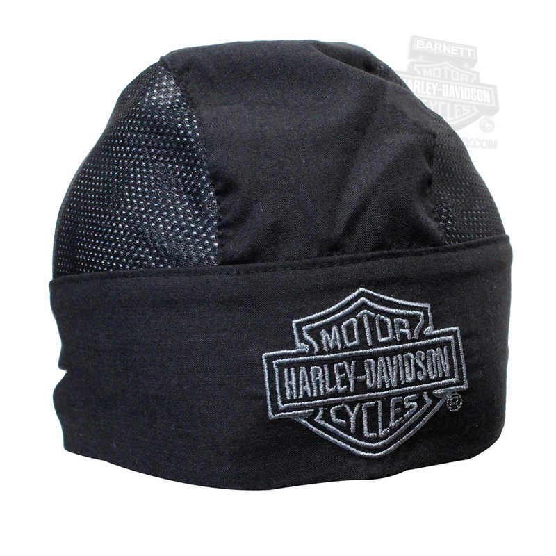 Harley-Davidson® Mens Air Flow Black Headwrap