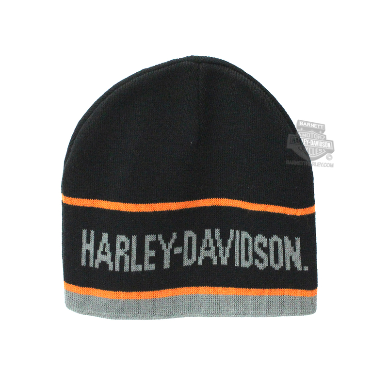 74852d5ba02e0 Harley-Davidson® Mens H-D Name BHD Custom Name Drop Black Acrylic Knit Cap