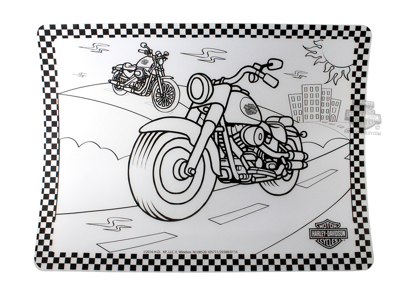 ** 2 for $5 ** Harley-Davidson® Color Me Motorcycle Silicone Placemat *CYB*