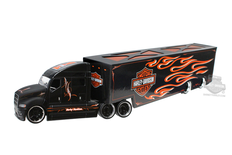 Harley-Davidson® H-D Haulers B&S Flames with Pinstriping Black 1:64 Scale Model Semi 1:64 Scale