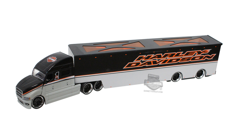 Harley-Davidson® H-D Haulers Two Tone HD Name with B&S Grey 1:64 Scale Model Semi 1:64 Scale