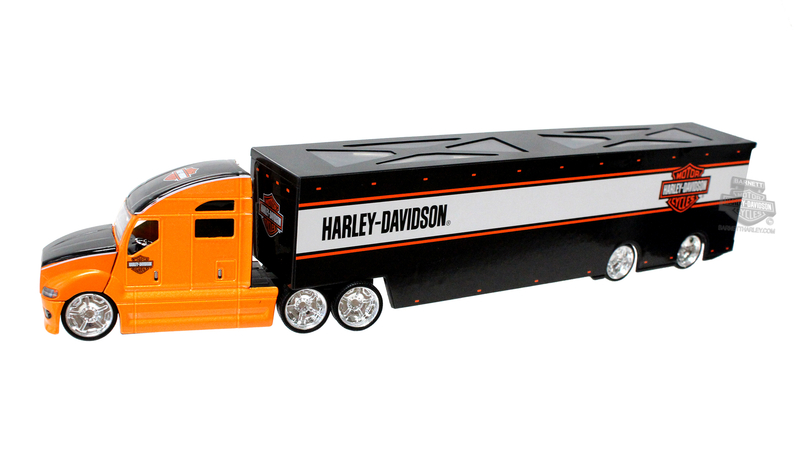 Harley-Davidson® H-D Haulers HD Name with B&S Multi Color Orange 1:64 Scale Model Semi 1:64 Scale