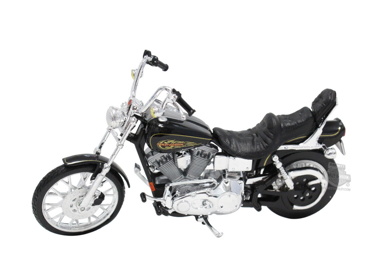 Harley-Davidson® 1997 FXDWG Dyna® Wide Glide® Ser 32 Black Model Bike 1:18 Scale
