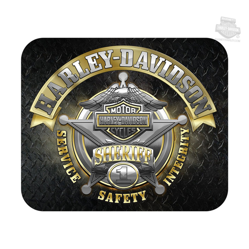 Harley-Davidson® Mens Sheriff Original Diamond Plate Neoprene Black Mousepad