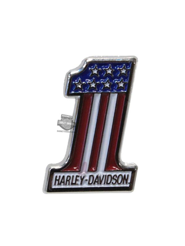 Harley-Davidson® RWB #1 2D Die Cast with Layers Lapel Pin
