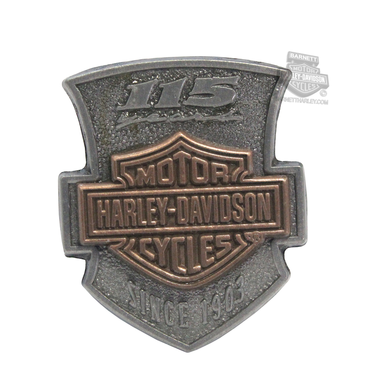 Harley-Davidson® 115th Anniversary Font 2D Die Cast Pin
