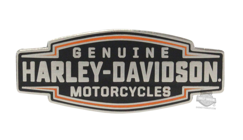 Harley-Davidson® Velocity Text 2D Die Cast Pin