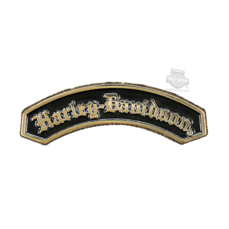 Harley-Davidson® H-D Name 2D Die Cast Gold Finish Pin