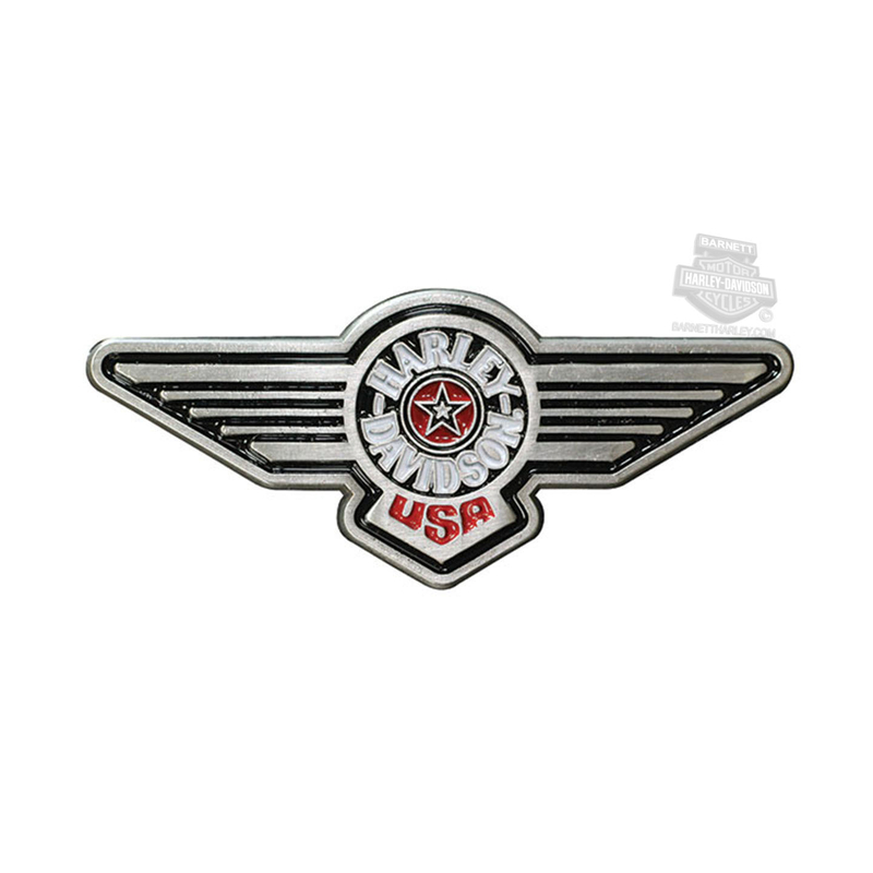Harley-Davidson® Fat Boy Antique Nickel with Enamel Fill Cloisonne Pin