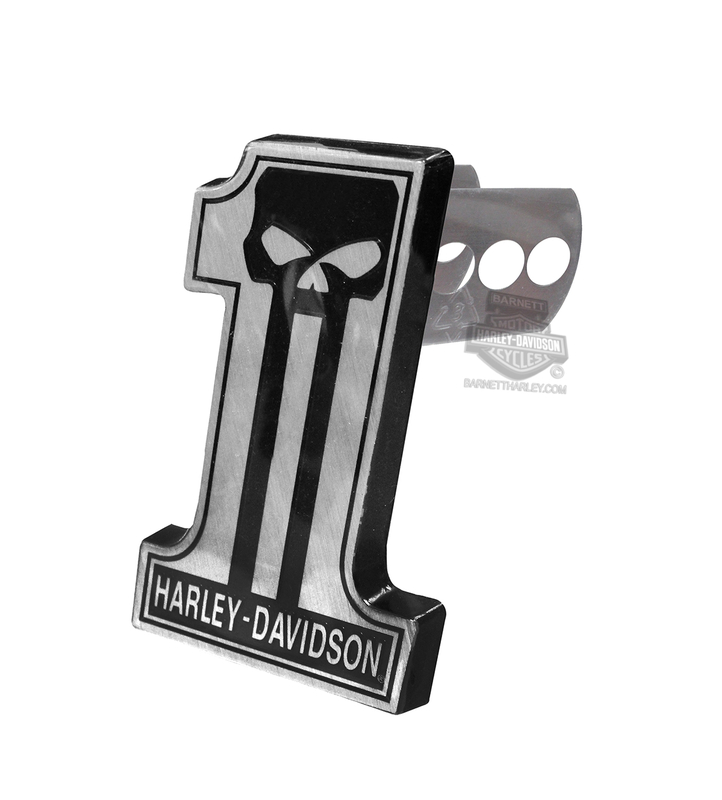 Harley-Davidson® #1 Skull Dark Custom Hitch Plug