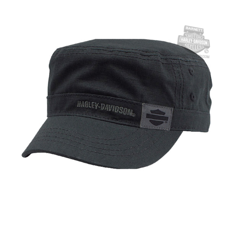 Harley-Davidson® Mens Midnight Special B&S Black Cotton Painters Cap