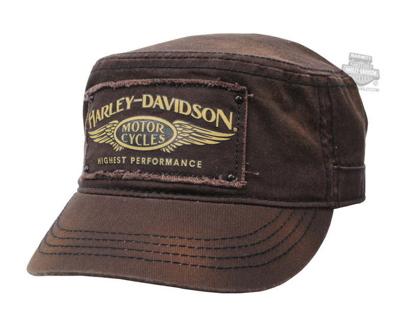 Harley-Davidson® Womens Highest Performance Wings Brown Cotton Painters Cap